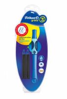Atramentový roller Griffix 3 pre pravákov - modrý