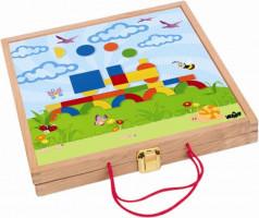 Magnetický kreatívny kufrík s tvarmi