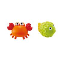 Striekací krab s rybkou- hračka do vody