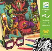 Maľovanky 3D – Vtipné príšerky