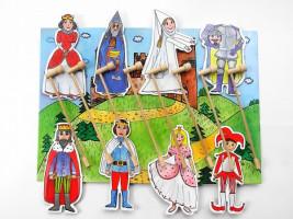 Marionetino – Bábková rozprávka s tyčkami – Kráľovská súprava I + II