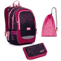 Sada pre školáčku CODA 20009 G SET MEDIUM - školská taška, vrecko na prezuvky, školský peračník