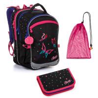 Set pre školáčku COCO 20004 G SET MEDIUM - školská taška, vrecko na prezuvky, školský peračník