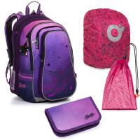 Set pre školáčku LYNN 20008 G SET LARGE školská taška, vrecko na prezuvky, pláštenka na batoh, školský peračník