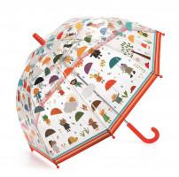 Detský dáždnik – pod kvapkami dažďa