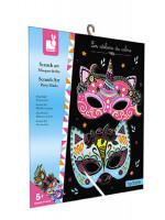 Atelier Mini - vyškrabovacie obrázky party masky