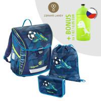 Školská aktovka - 3-dielny set, Baggymax Fabby Futbal + BONUS zdravá fľaša
