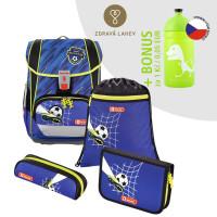 Školská aktovka LIGHT 2 - 4-dielny set, Step by Step Futbal + zdravá fľaša za 0,05 EUR