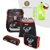 Školská aktovka LIGHT 2 - 4-dielny set, Step by Step Drak + zdravá fľaša za 0,05 EUR