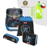 Školská aktovka LIGHT 2 - 4-dielny set, Step by Step Robot + zdravá fľaša za 0,05 EUR