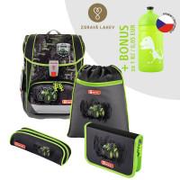 Školská aktovka LIGHT 2 - 4-dielny set, Step by Step Traktort+ zdravá fľaša za 0,05 EUR