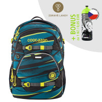 Školský batoh Coocazoo ScaleRale, Wild Stripe + zdravá fľaša za 0,05 EUR