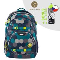 Školský batoh Coocazoo ScaleRale, Blue Geometri + zdravá fľaša za 0,05 EUR