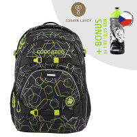 Školský ruksak coocazoo ScaleRale, Laserbeam Black, certifikát AGR + zdravá fľaša za 0,05 EUR