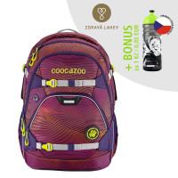 Školský ruksak coocazoo ScaleRale, Soniclights Purple, certifikát AGR + zdravá fľaša za 0,05 EUR