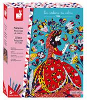 Atelier Maxi - Princezné z rozprávok - farebný piesok s trblietkami