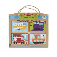Melissa & Doug – Cestovné puzzle – dopravné prostriedky – 16 ks