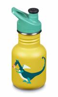 Detská nerezová termofľaša Klean Kanteen Kid Classic w/Kid Sport Cap 3.0 - dragon snack matte 355 ml