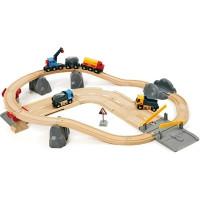 Brio - Vláčikodráha s nákladným vlakom, podjazdom a cestou - 32 dielov