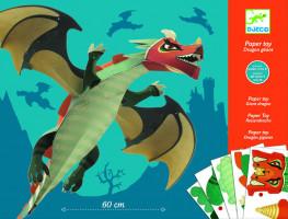 Papierová skladačka – veľký drak