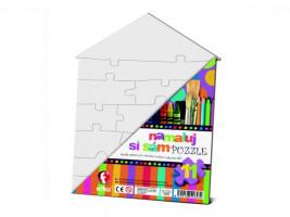 Namaľuj si sám puzzle - domček