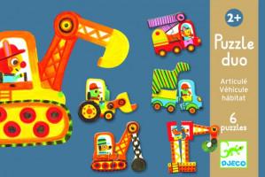 Puzzle Duo – Pohyblivé autá