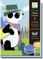Výtvarná hra s pieskom Panda a jej kamaráti