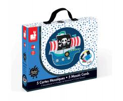 Kreatívna sada Piráti - mozaika s trblietkami v kufríku