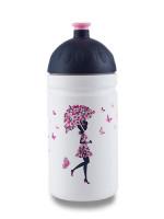 Zdravá fľaša 0, 5 l- Dievča s dáždnikom