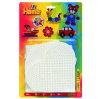 Hama Midi - podložky - srdce, kruh, štvorec, šesťuholník