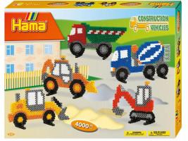 Hama Midi - Veľká darčeková sada - Stavebné stroje