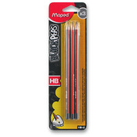 Ceruzka Maped Black´Peps – tvrdosť HB (3 ks v balení)