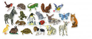 Drevené magnetky – Zvieratká – 20 ks