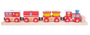 Bigjigs - hasičský vlak