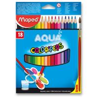 Akvarelové pastelky Maped - 18 farieb + štetec