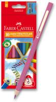 Farbičky Faber-Castel Junior Triangular - 10 farieb + orezávadlo