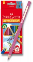 Farbičky Faber-Castel Junior Triangular - 20 farieb + orezávadlo