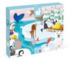 Puzzle dotykové Život na ľade - s textúrou 20 dielov