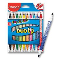 Detské fixky - fixy Maped Color´Peps Duo Tip - 10 farieb