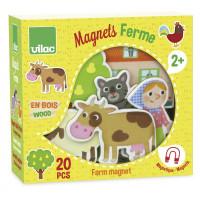 Drevené magnetky – Farma – 20 ks