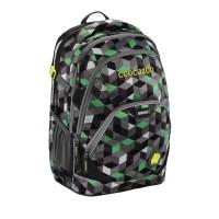 Školský batoh Coocazoo EvverClevver2, Crazy Cubes Green